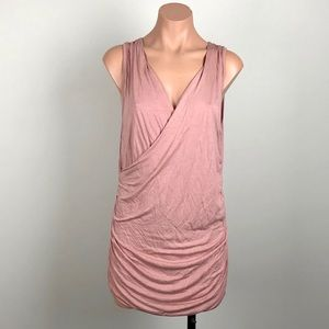 Cynthia Rowley Large Blush Rouched Tank with Vneck